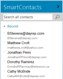 All recipients are automatically added to the Smart Contacts address book