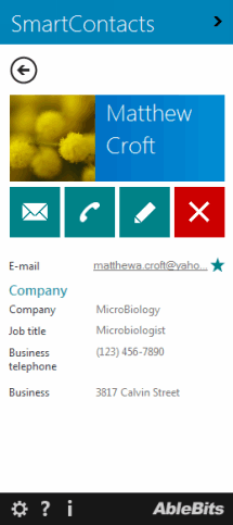 Contact management in Outlook with categories and search