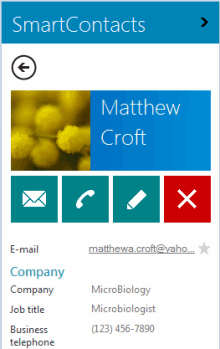See Outlook contact details right on the pane