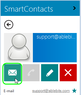 Create a message from the contact details