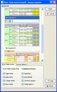 Click to view AutoFormat for Excel PivotTables screenshots