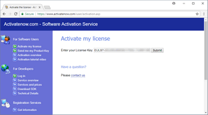 Enter your license key - Activatenow.com