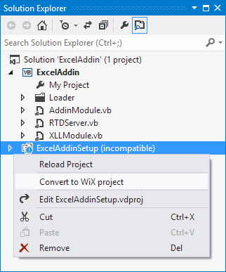 Convert a Visual Studio setup project to a WiX in a mouse click