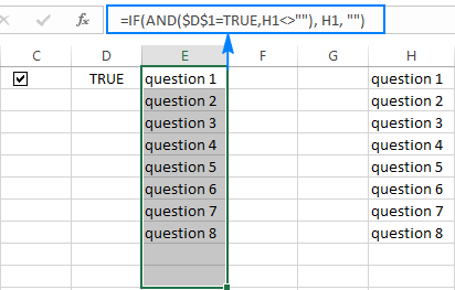 List of instructions depending on the outcome of a check box