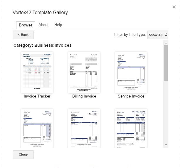Google Sheets templates for invoices